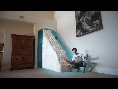 BUILDING A TOILET PAPER STAIRCASE!! (ATTEMPTING TO CLIMB UP) | FaZe Rug