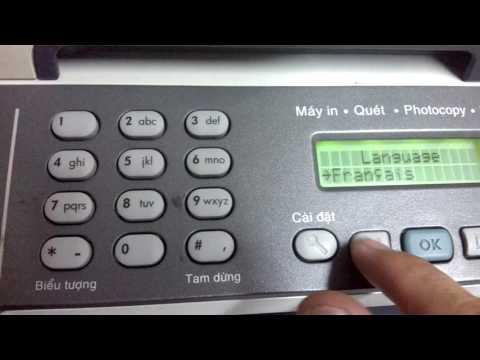 Select language HP M2727nf