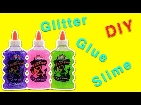Glitter Glue Slime   How to Make Slime with Glitter Glue
