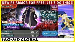 2nd Anniversary Special - New Free R5 Armor For Makoto! (saomd Memory Defrag)