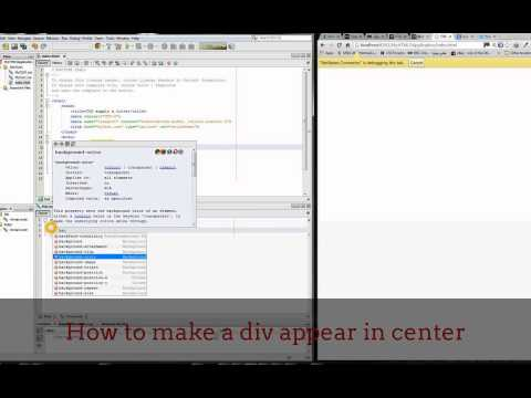 CSS HTML How to make a DIV block center