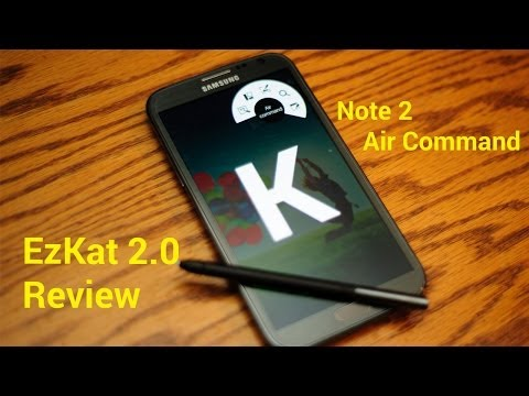 Review: EzKat2.0 Galaxy Note2 KitKat Touchwiz Air Command AT&T T-Mobile