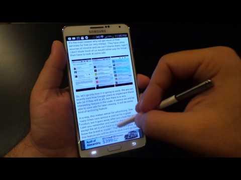 Galaxy Note 3: Multi Window Multi-tasking