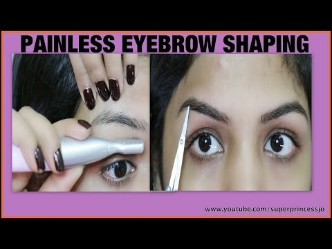 How To Shape Eyebrows | Facial hair Removal | SuperPrincessjo
