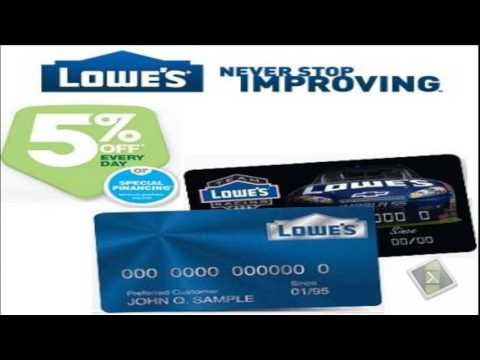Lowes credit card - A great deal