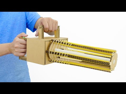 How to Make Simple Automatic Rubber Band Machine Gun from Cardboard