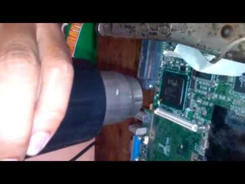 Removing BGA Chipset using hot air & heat gun combo