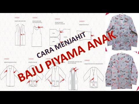 Cara membuat pola dan menjahit baju tidur anak laki laki BAGIAN 2