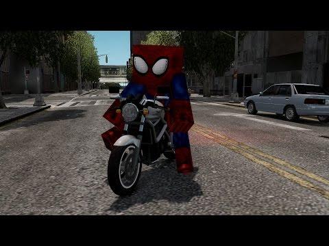 Minecraft Spiderman IV [GTA IV Script/Skin Mod]