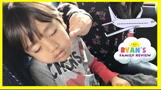 Family Fun Vacation! Kid Airplane Trip Disney World! Sour Ice Cream Candy! Ryan