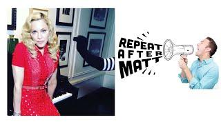 Repeat After Matt | Madonna's Sock Puppet Theater