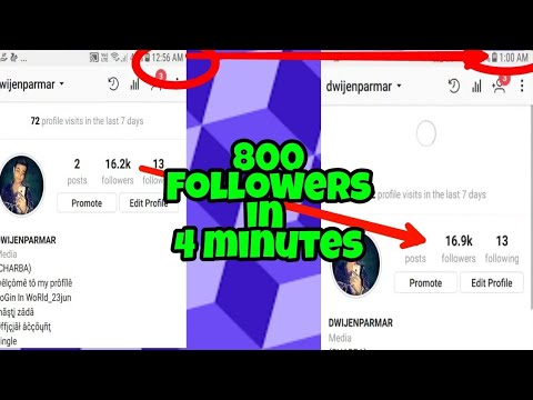 How to increase instagram folowers Instagram followers hack 800 Followers in 4 minutes (2018)