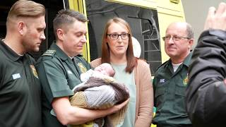 Nottingham family meet ambulance crew who saved their baby