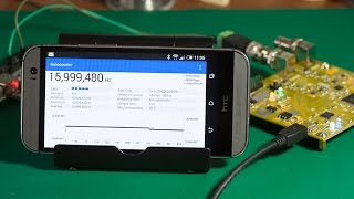 A frequency counter built with an FPGA, STM32F072 and an Android GUI