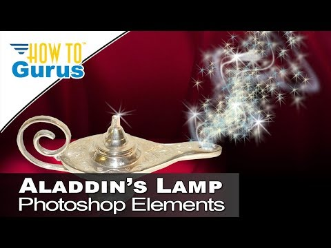 How to Make Aladdin's Lamp Fantasy Effect in Photoshop Elements 2018 15 14 13 Tutorial