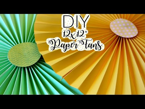 DIY-Super Easy 12x12  Paper Fans