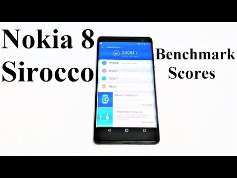 Nokia 8 Sirocco - Benchmark Tests and Comparison