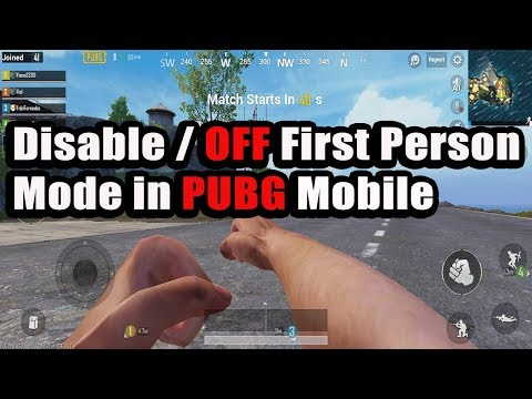 How to disable First Person Mode (FPP) in PUBG Mobile - Turn off  First Person PUBG
