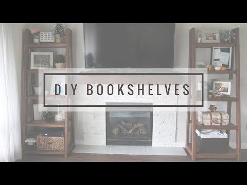 DIY Leaning Bookshelf