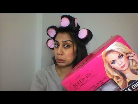 Sleep-in rollers review / demo - do rollers work on thick Asian hair?