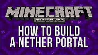 How To Build A Nether Portal Minecraft Pocket Edition