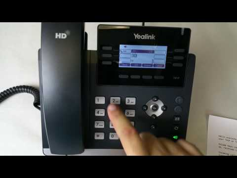 Yealink T41P / T42G User Guide - 3 Way Conference Call