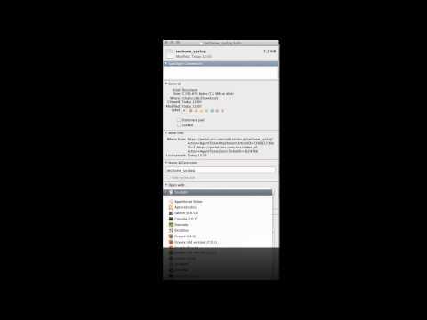 Define a default program for files in Mac OS X