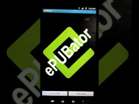 Convert pdf files into epub format using an android device