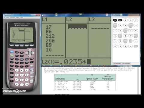Chi-squared - Goodness of fit TI-84