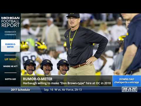 Potential Michigan Football Offensive Coordinator Replacements For 2018