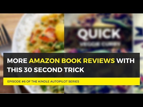 Get More Amazon Book Reviews with this 30 Second Trick