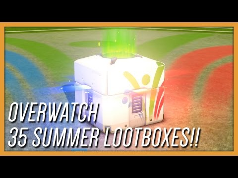 OVERWATCH 35 SUMMER GAMES LOOT BOX OPENING! Legendary Woes