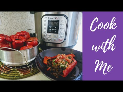 Cook with Me || Instant Pot Stuffed Peppers