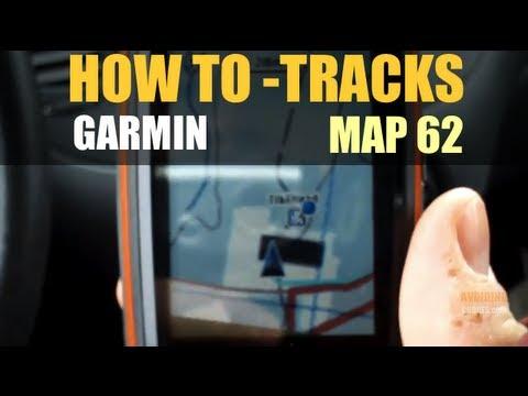 Garmin GPS map 62s - How to Use Tracks - GPSMAP 64