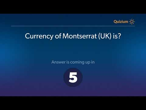 Currency of Montserrat UK is?   Countries and Currencies Quiz