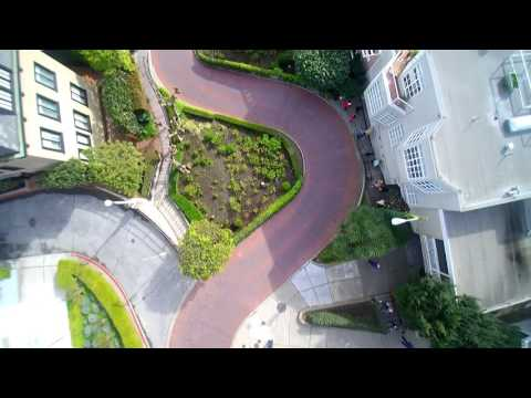 Lombard Street in San Francisco Drone View with Blade Chroma