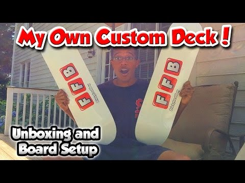 MY OWN CUSTOM SKATEBOARD GRAPHIC! | Unboxing and Board Setup