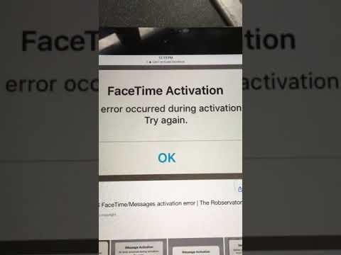 FaceTime activation error fix 2017 dec