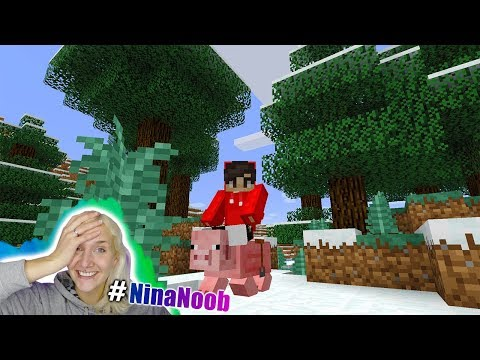 NINA REITET AUF SCHWEIN - Minecraft Animal Bikes Mod | Tiere satteln und los reiten #NinaNoob