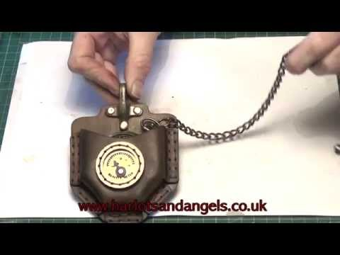 Steampunk Leather Pocket Watch Pouch Tutorial Complete steampunk kit