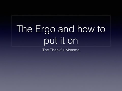 Why I like the Ergo and How to put it on by yourself