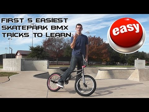 TOP 5 EASIEST BEGINNER BMX SKATEPARK TRICKS!!!