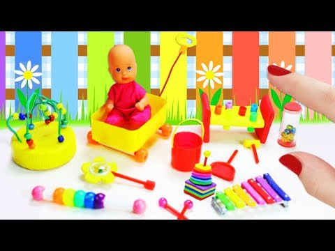 How to Make Miniature Baby Toys - 10 Easy DIY Miniature Doll Crafts
