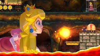 New Super Mario Bros. Wii - Final Boss Evil Peach & Ending