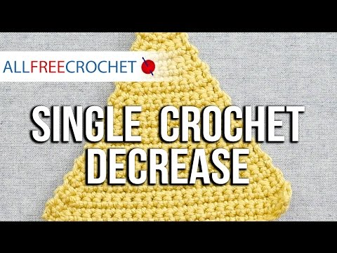 Left-Handed Single Crochet Decrease Stitch