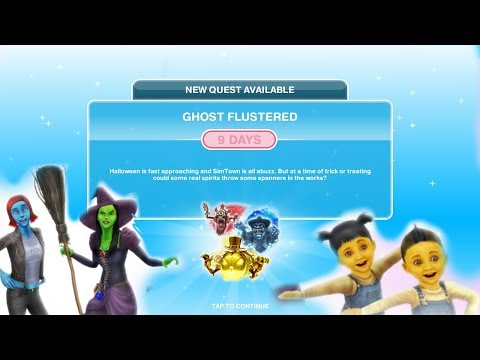 Simsfreeplay - Ghost Flustered Quest (Halloween Update)