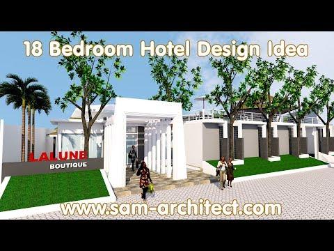 SketchUp Boutique Hotel Design Idea with 18 Rooms Samphoas 02