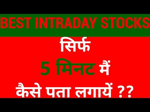 How to select Best Intraday Trading Stocks in just 5 Mins | HINDI