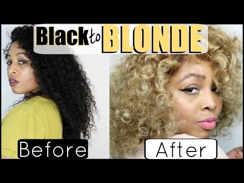 Black to BLONDE! Bleach & Color on my Lace Wig