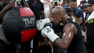 Download FULL & UNCUT - FLOYD MAYWEATHER'S MEDIA WORKOUT FOR CONOR MCGREGOR Video